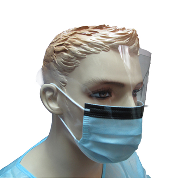 Disposable Resistant To Liquid Splashes Eye-Shield Surgical Mask with FDA510K