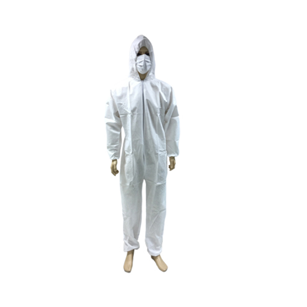 Disposable SBPP/SMS/SF Water/dust Proof working coverall/overall with hood