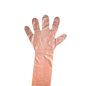 Disposable Long Sleeve Slaughtering PE Gloves