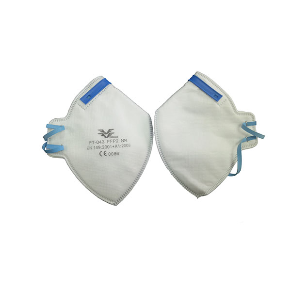 Fold-flat butterfly FFP1/ FFP2/FFP3 respirator/ Dust Mask with valve or without