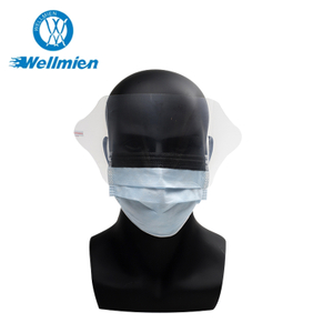 FDA 510K/EN14683 Splash Proof Surgical Face Mask with Eye Shield